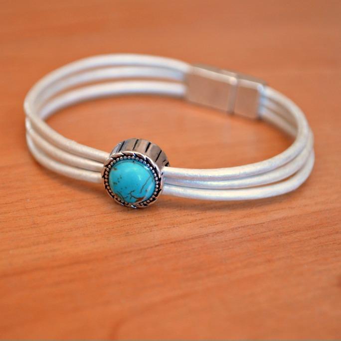 Multi Strand Leather Bracelet Amy Latta Creations