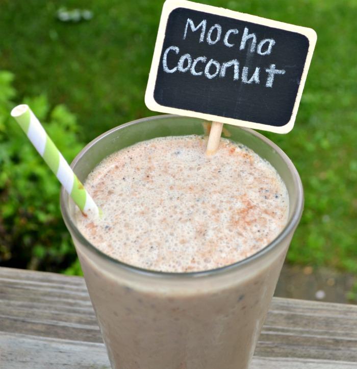 Mocha Coconut Iced Coffee Treat with Silk Almond Milk