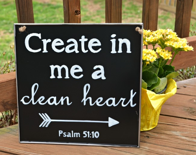 Chalkboard Scripture Sign