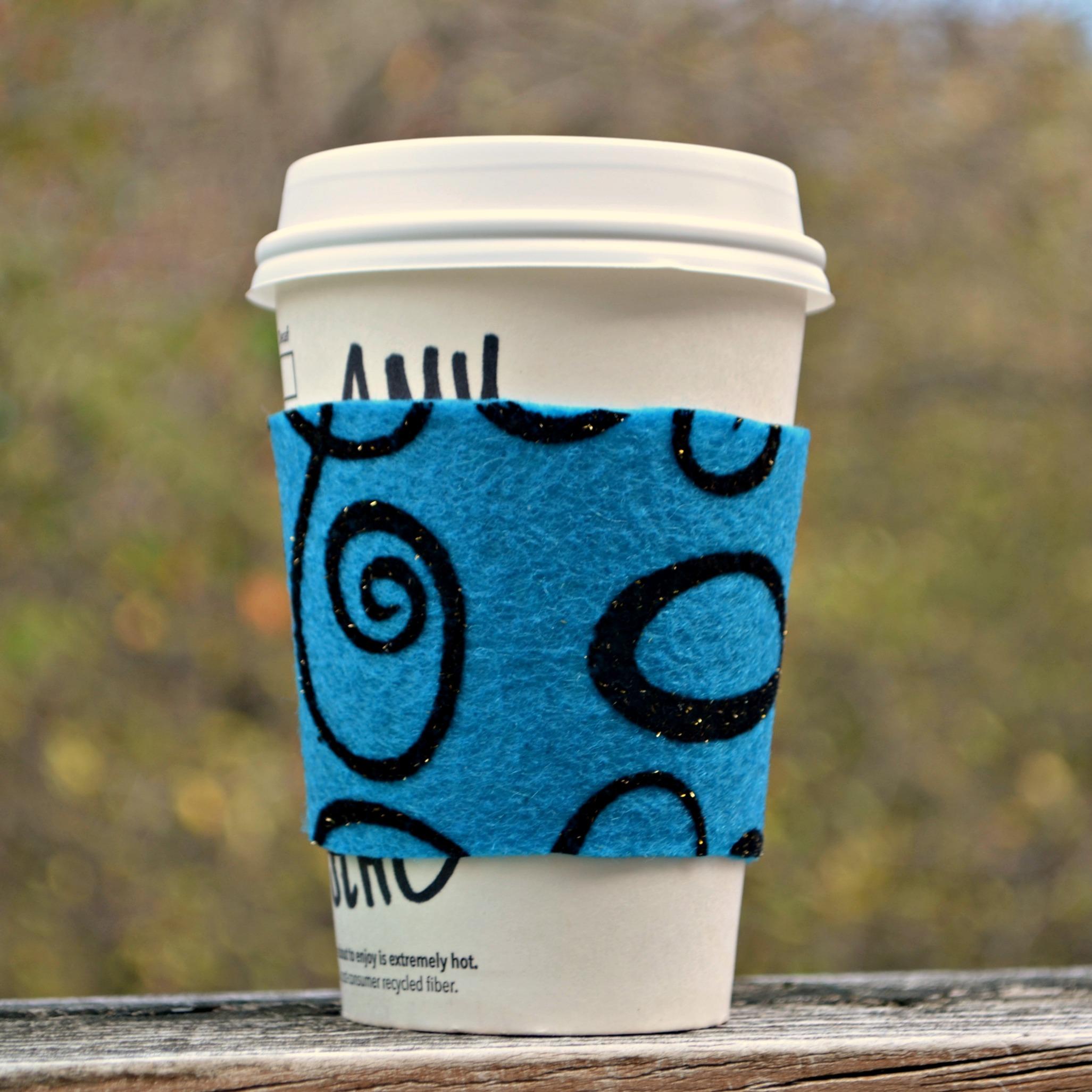 No-Sew Felt Coffee Cozy