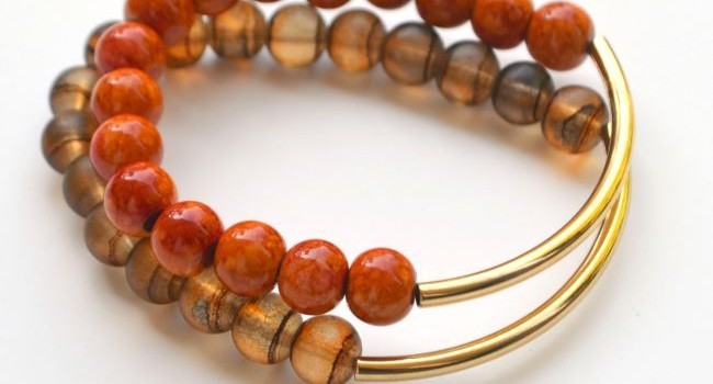 Autumn Inspired Stacking Bracelets