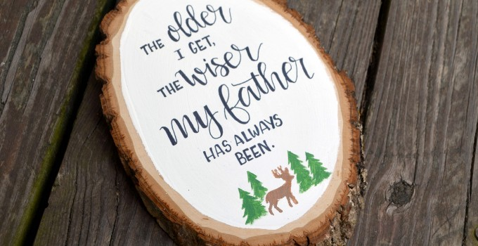Hand Lettered Father's Day Sign