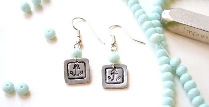 Stamped Anchor Earrings with ImpressArt