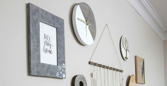 Faux Concrete Gallery Wall Frame