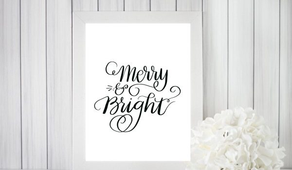 Merry & Bright Print & Cut File