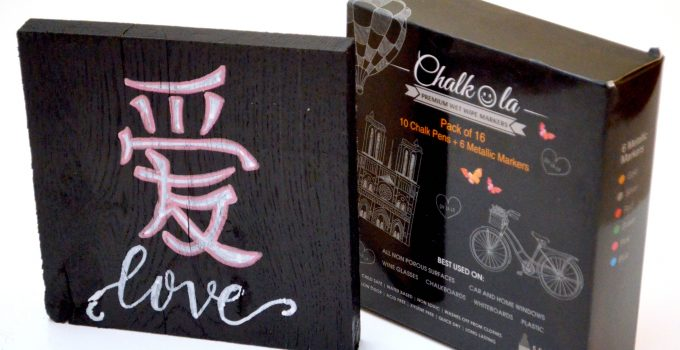 Love in any Language: Chinese Chalkboard Sign