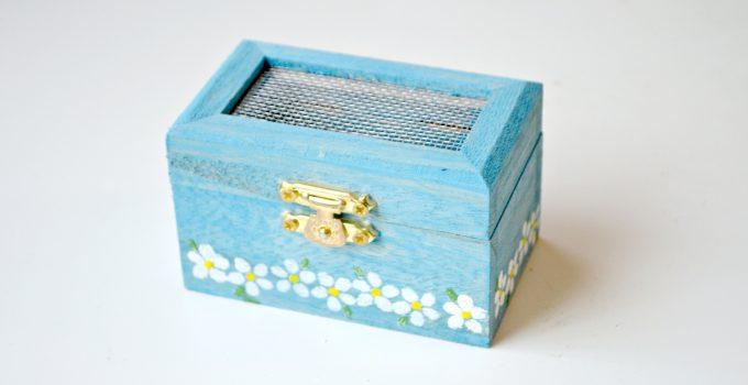 Stenciled Ring Box