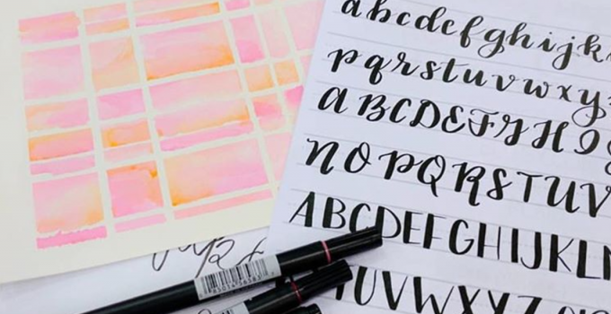 Pinners Conference Recap: Faux Calligraphy & a Watercolor Background