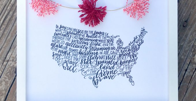 Hand Lettered Patriotic Printable