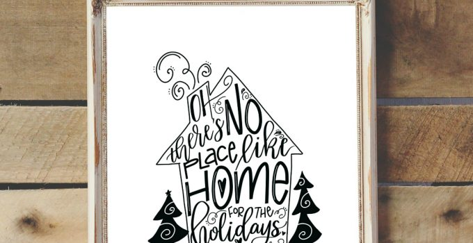 Home for the Holidays Free Printable & Hand Lettering Hop