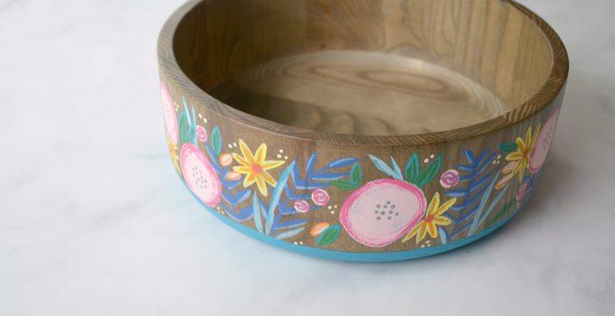DIY Floral Bowl