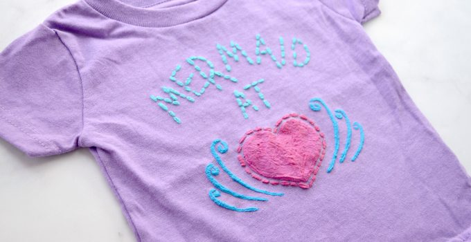 DIY Mermaid T-Shirt with Fabric Creations Plush 3-D Paint