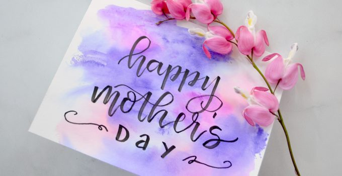 Quick & Easy Watercolor Mother's Day Card