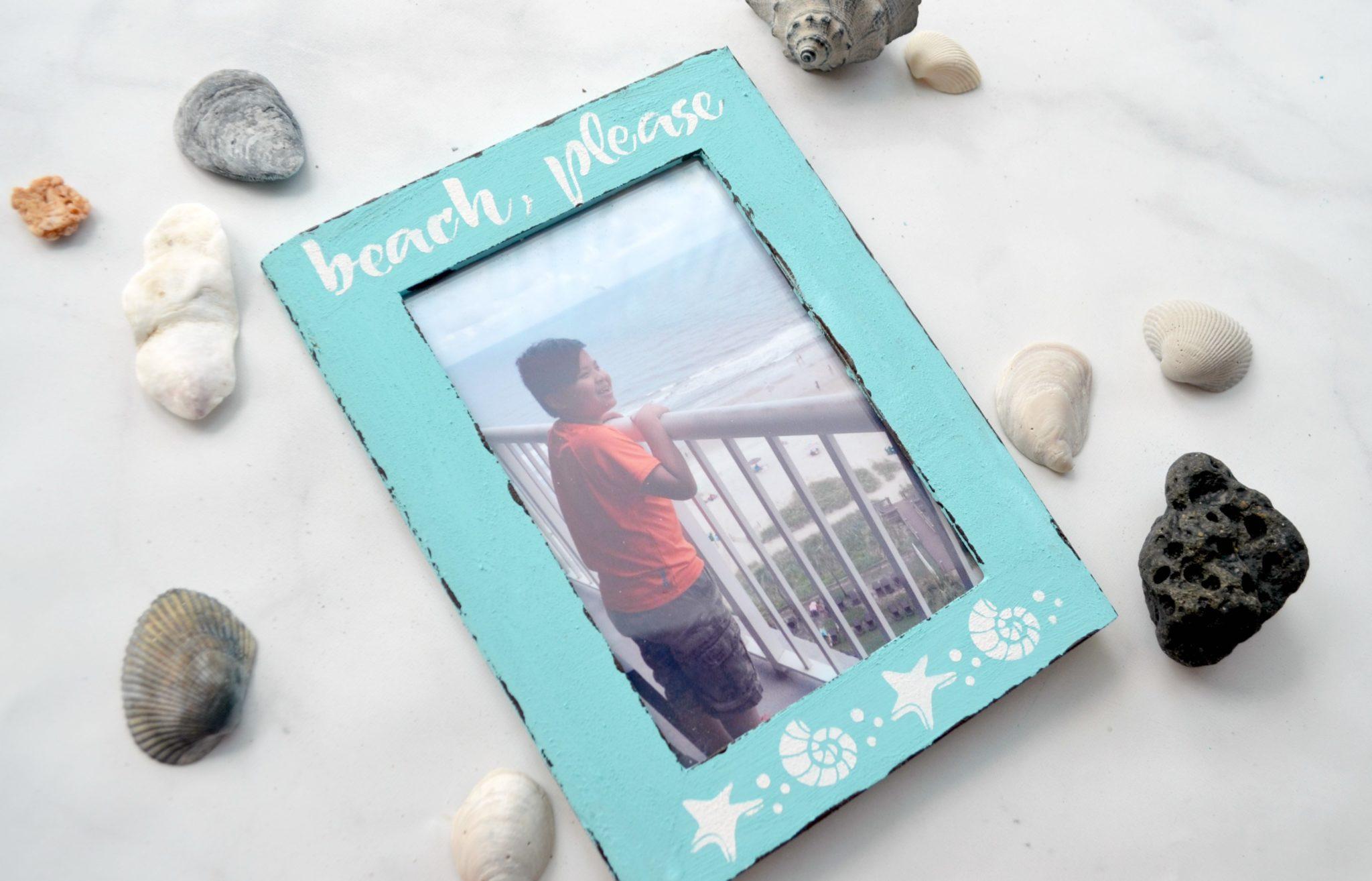 Coastal Beach Photo Frame